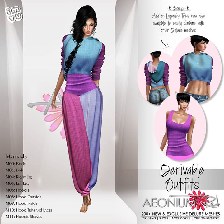 New Derivable outfits by DELURE now in my shop, as well as layerable tops from each collection for y