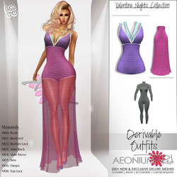 NEW TODAY! Valentine Night Collection Meshes by Delure Derivable in my shop! _Shop AeoniumRed ♥ Than