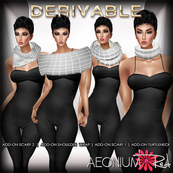 NEW NEW NEW! Shop AeoniumRed _3 _New Derivable Add on Scarfs, Shoulder Wrap, and Turtleneck Accessor