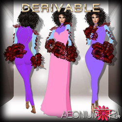Shop AeoniumRed _New Derivable in my shop tonight! Combining the beautifiul Lilith flower mesh by An