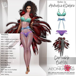 NEW Today in my shop! Derivable Couture AZ Rot Cosette, Meshes by Andzelica and Delure Julie Kay Mil