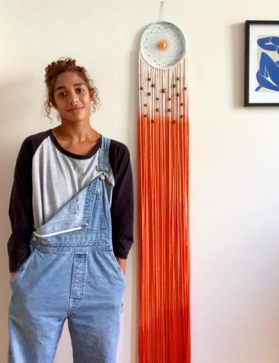 X-long dip dye dreamcatcher