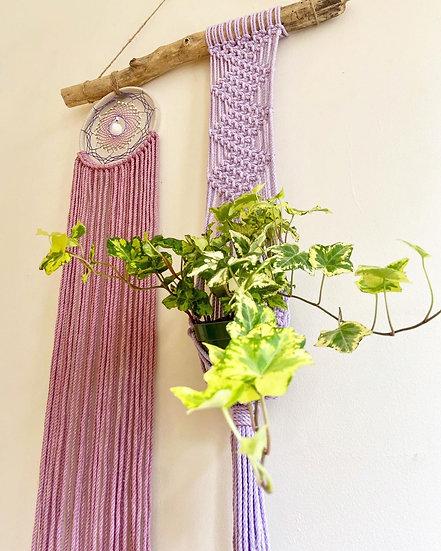 Divine Feminine Dream Catcher + Macrame Plant Hanger