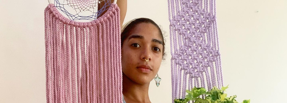 plant hanger + dreamcatcher