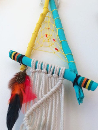 Abstract Dream Catcher with Macrame