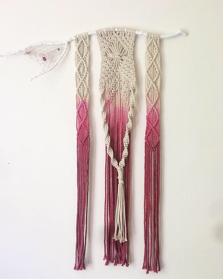 Dyed Macrame with Dream Catcher