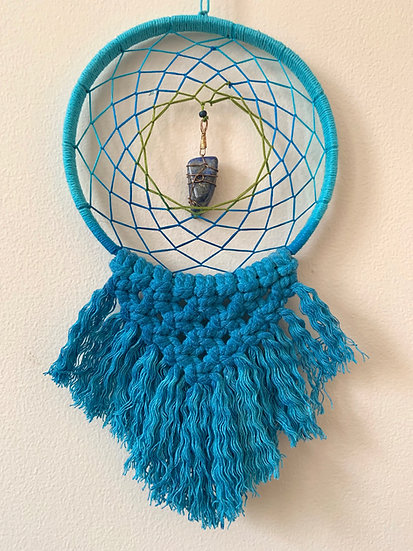 Macrame Dream Catcher with Lapis Lazuli
