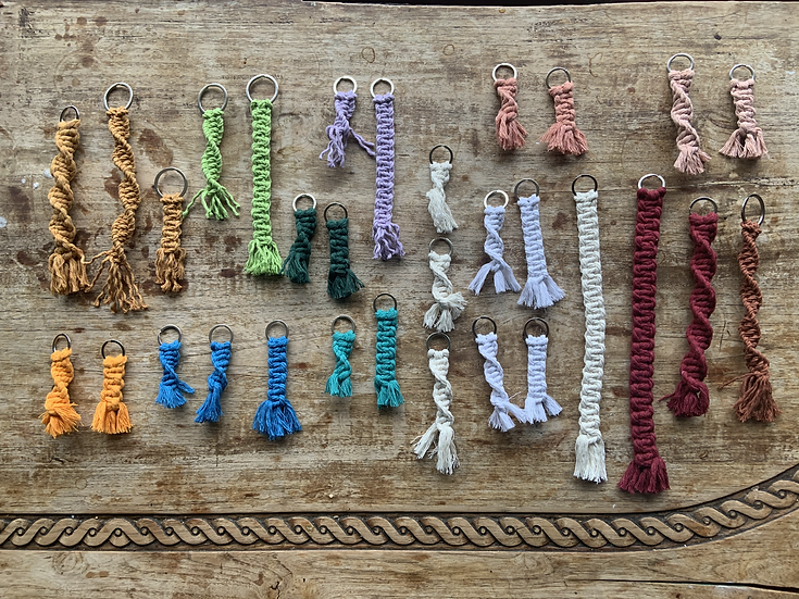 Keychains: Recycled Rope