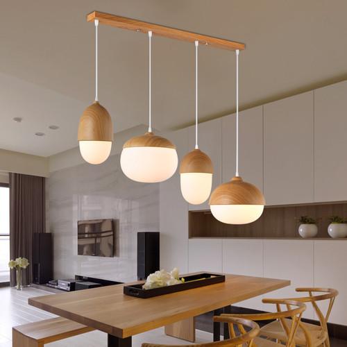Solid Wood Nut Design Pendant Light