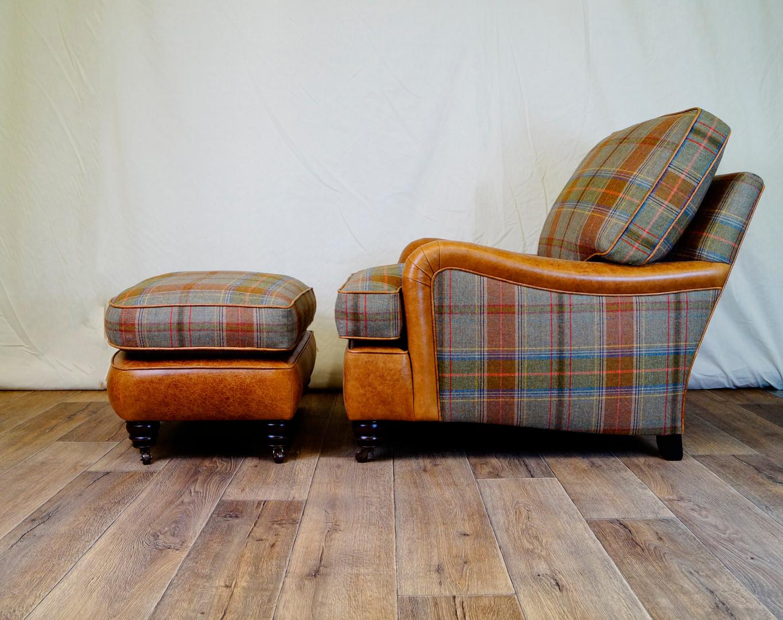 Leather & Plaid Howard Chair