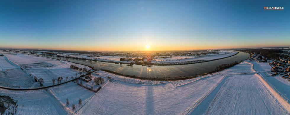 Velden aan de Maas in de winter, februari 2021