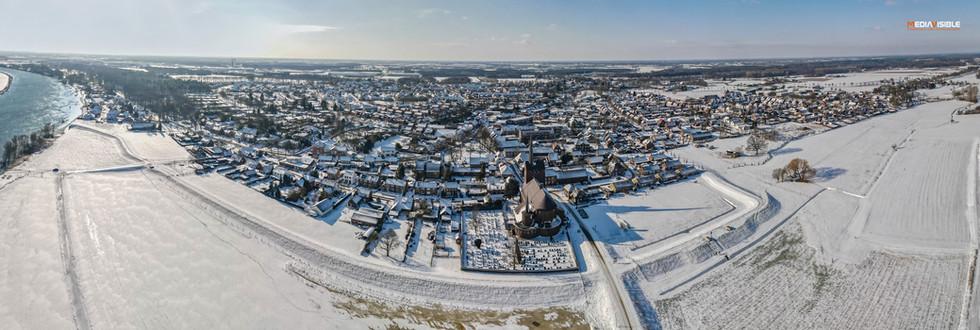 Grubbenvorst in de sneeuw, februari 2021