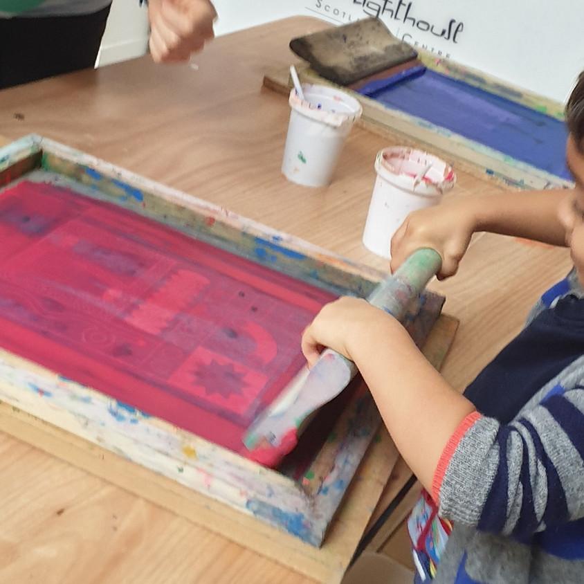 Creative kids - Screen Printing with PrintClan
