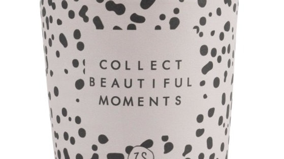 """Kaars in wikkel """"Collect beautiful moments"""""""