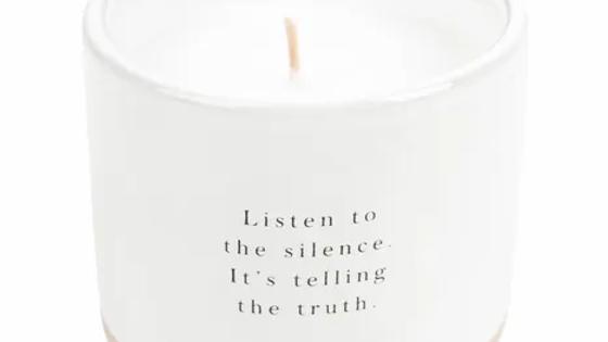 """Geurkaars """"Listen to the silence"""""""