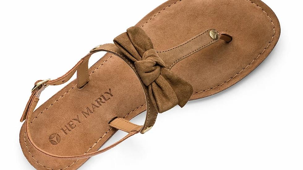 Lederen sandalen Pretty Bow-  4 kleuren