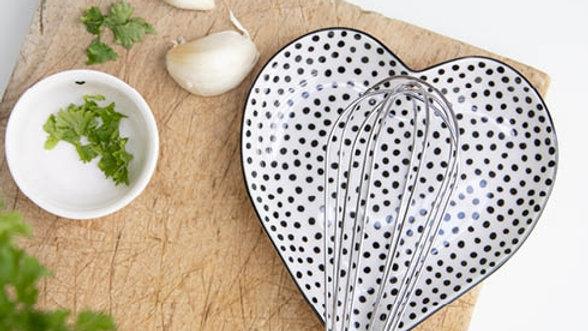 Spoon Holder Heart  13x13 cm - stippen