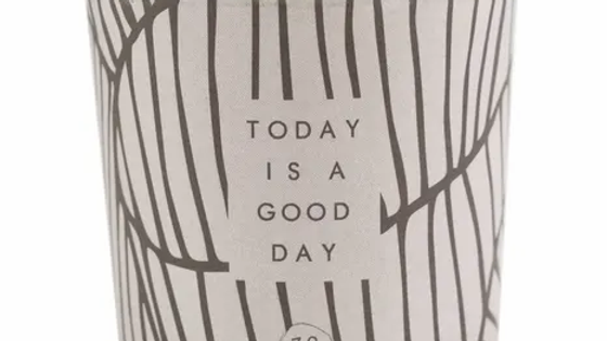 """Geurkaars in wikkel """"Today is a good day"""""""