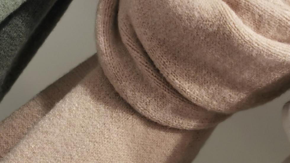 Super zachte sjaal beige