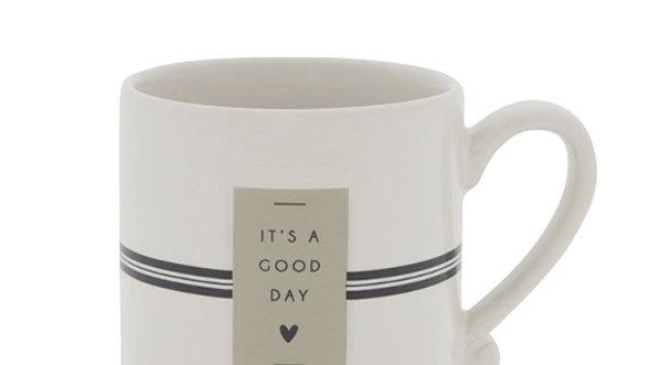 Mug White/It's a good day  8x7cm