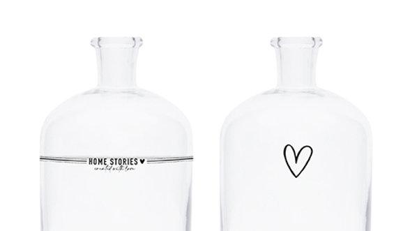 Glass bottle Home Stories/Hartje 11 x 18 cm