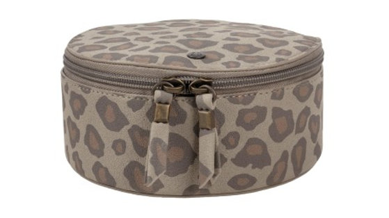 Ronde Make-up tas Leopard