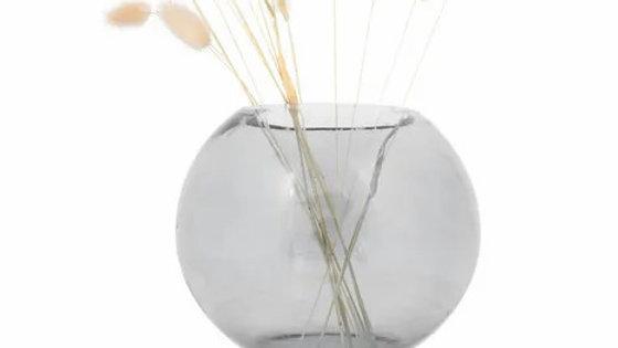 Glazen bolvaas  M 17 x 19 cm