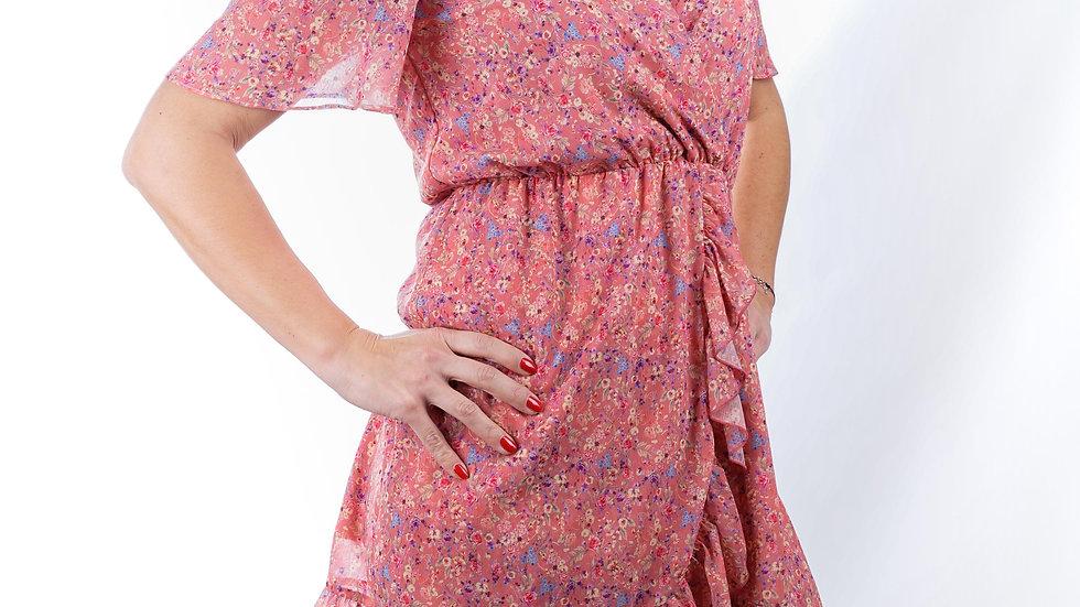Short dress Tropic Pink Flower