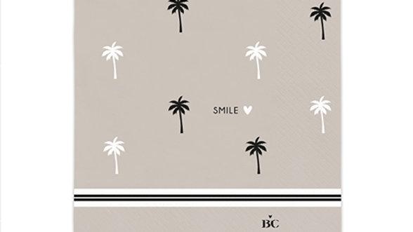 """Servetten klein  """"Smile"""" Palmtrees 12,5 x 12,5 cm"""