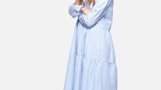 Long Dress Michèle Blue
