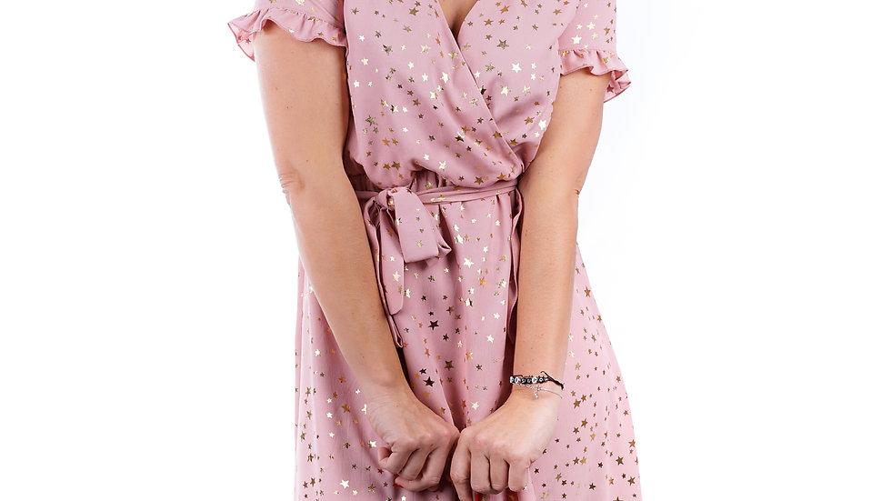 Long dress Anna Pink star