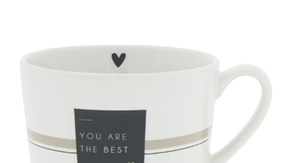 Cup White/You are the best  10 x8 x 7cm