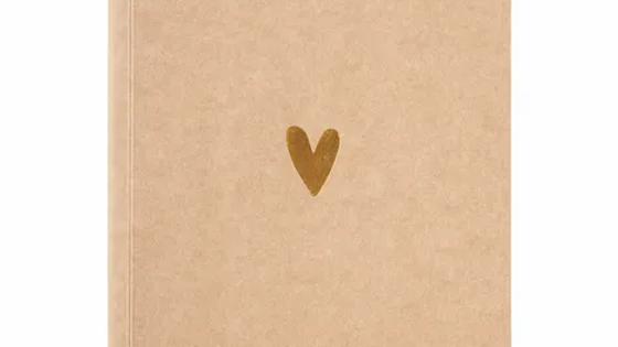 Schriftje gouden hartje