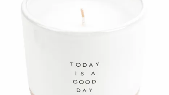 """Geurkaars """"Today is a good day"""""""