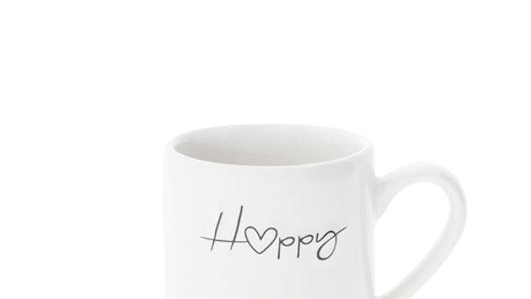 Espresso White/Happy in black 5,4x6,2cm