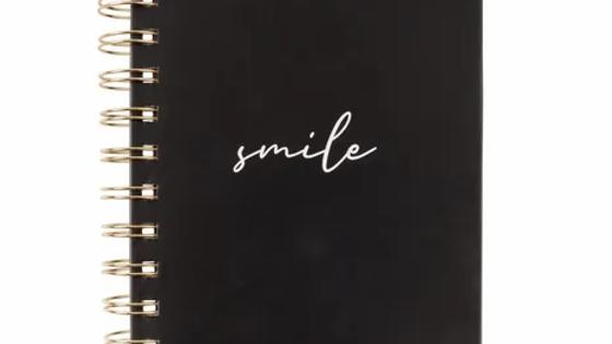 Notitieboekje Smile zwart