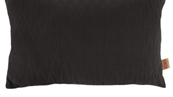 Kussen wiebers 30x50cm zwart