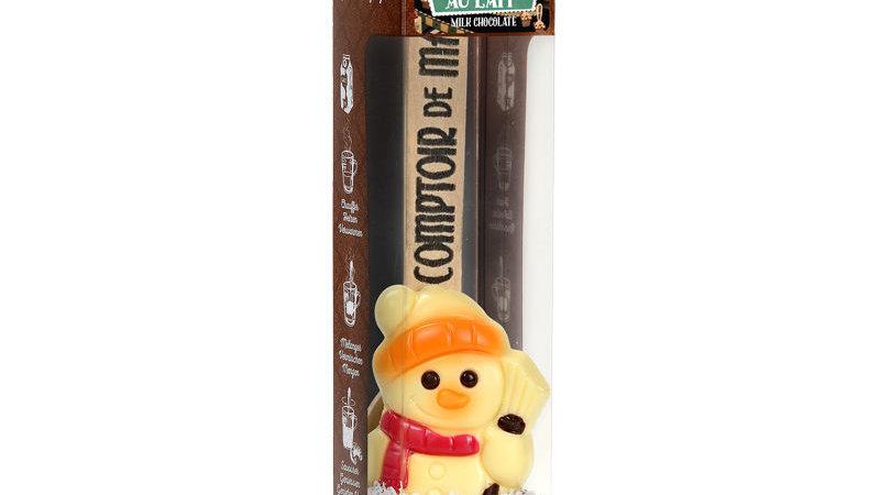 Hot chocolate stick snowman