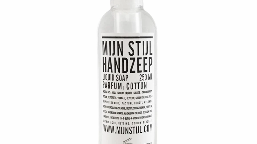 Handzeep 250ml - Cotton - transparante fles