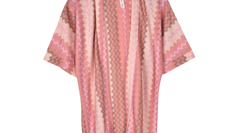 Cimono Pink Wave Knit Miracles