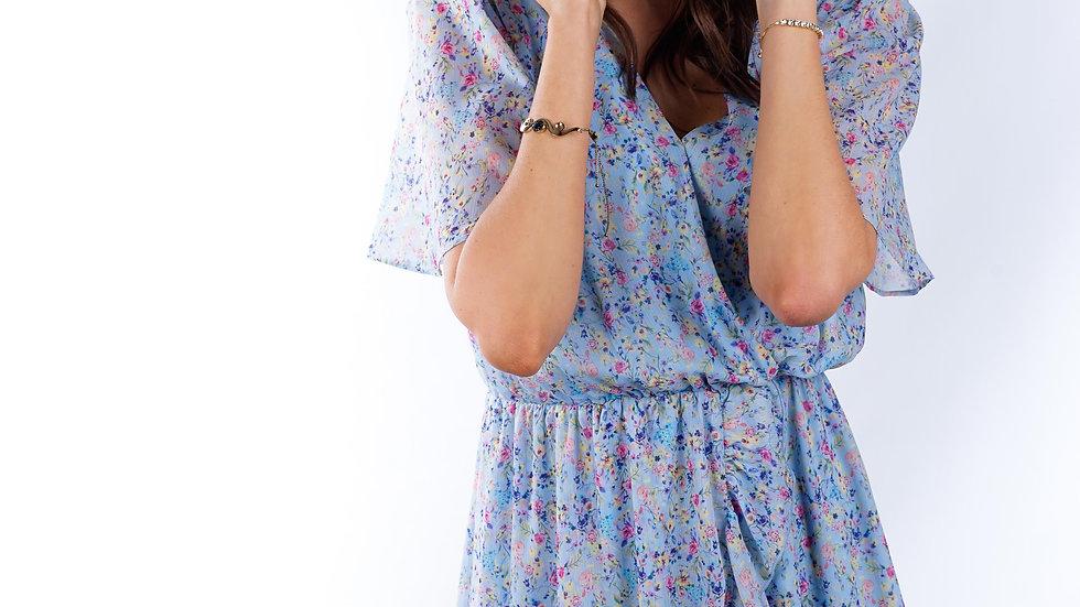 Short dress Tropic Flower Blue