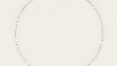 Armbandje hartje zilverkleurig