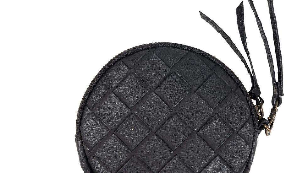 Ronde portemonnee zwart