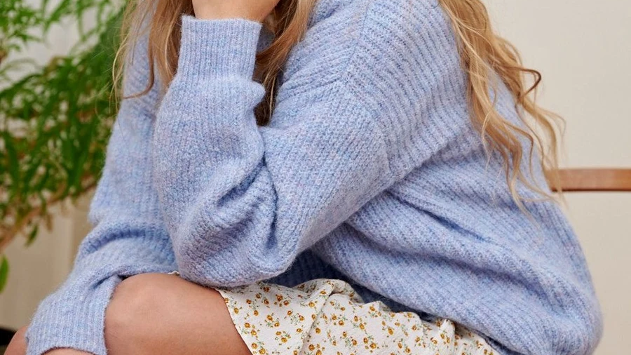 Pull Amelie blue
