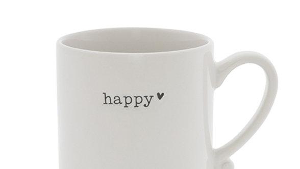 Mug White /Happy 8x 7 cm