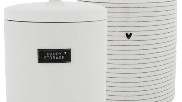 Jar Large White/black 14x14x16.5cm