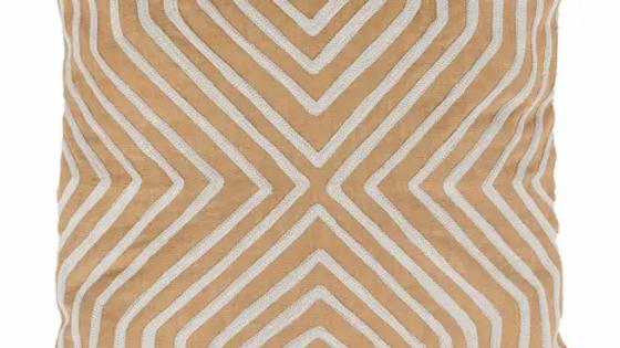 Kussen grafisch patroon 45x 45 cm Camel