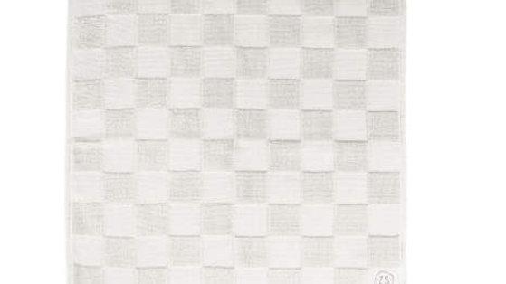 Handdoek wit geblokt