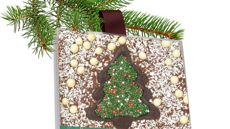Carré melkchocolade met kerstmotief