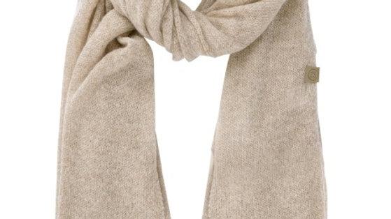 Warme brei sjaal beige
